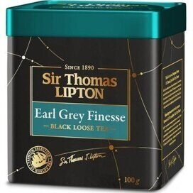 Чай Lipton Sir Thomas Earl Grey Finese черн., 100г