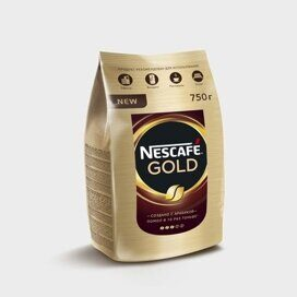 Кофе Nescafe Gold раств.субл.750г пакет
