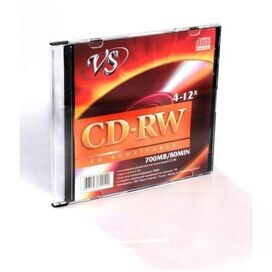 Носители информации VS CD-RW 700MB 4-12x SL/5