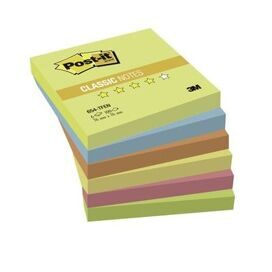 Блок-кубик Post-it 654-TF 76х76 Теп.неон радуга,6бл.