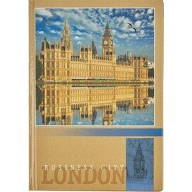 Блокнот Attache London А5,80л. 7БЦ,глянц.лам,бум. 60 г/м,диз. кл.