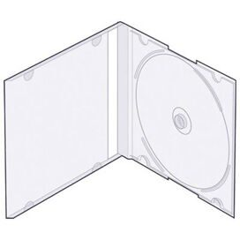 Бокс для CD/DVD дисков VS CD-box Slim/5 прозрачный