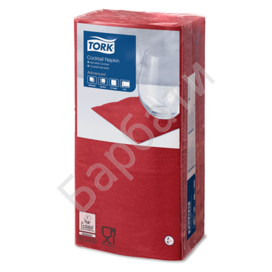 Салфетки TORK Big Pack, 24х23,8, 200шт., 2-х сл., бордо, 477824