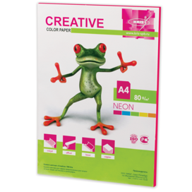 Бумага CREATIVE color (Креатив) А4, 80г/м, 50 л. неон малиновая, БНpr-50м, ш/к 44868
