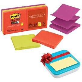 Блок-кубик Post-it Super Sticky Z-блок R330-6SSAN 6бл тепл. неон радуга