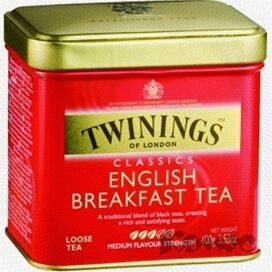 Чай Twinings English Breakfast Tea листовой черн.100г ж/б