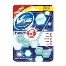 Блок для унитаза Domestos Power 5 Кристальная чистота 55гр
