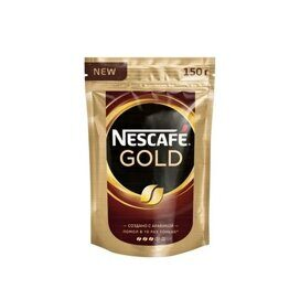 Кофе Nescafe Gold раств.субл.150г пакет