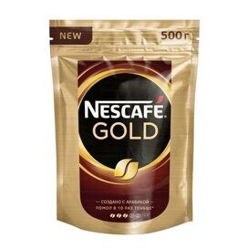 Кофе Nescafe Gold раств.субл.500г пакет