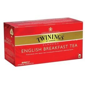 Чай Twinings English Breakfast Tea черный 2гx25пак