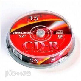 Носители информации VS CD-R 700MB 52x Cake/10